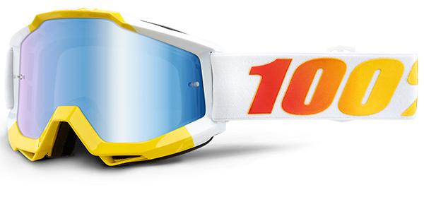 100/% PERCENT ACCURI MX MOTOCROSS GOGGLES FUTURA with ORANGE TINT LENS bmx mtb