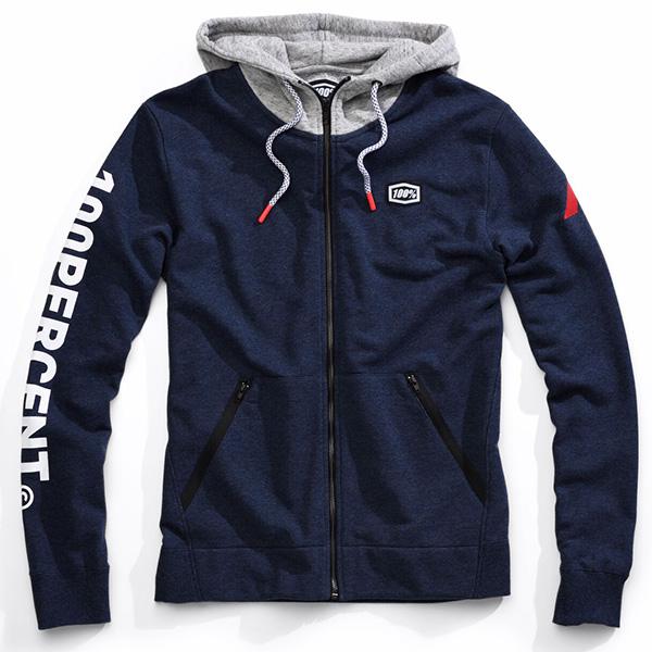 100 Hiatus Zip Hooded Sweatshirt Bto Sports