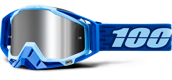 100% Racecraft Plus Injected Mirror Goggles Rodion 2019 Bike Goggles blau Radsport