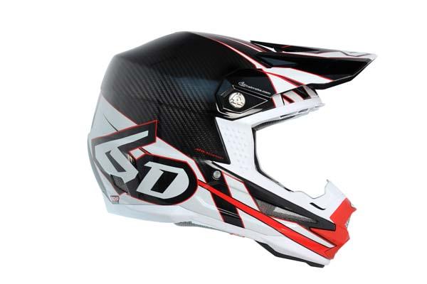 6D Helmets ATR-1 Carbon - Electric Red White - L