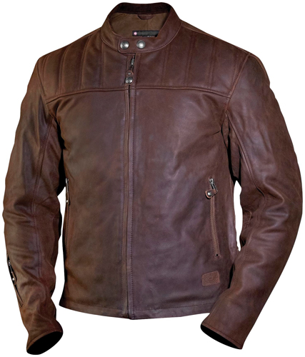 Roland Sands Enzo Mahogany Motorcycle Leather Jacket
