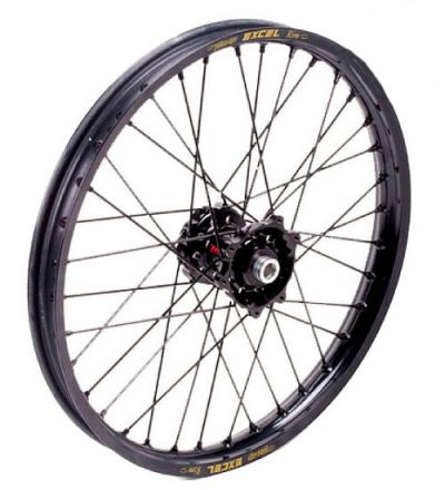 talon excel complete wheel with black hub and black spokes bto sports