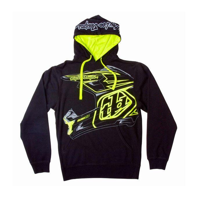 troy lee designs helmet pullover hoodie youth bto sports