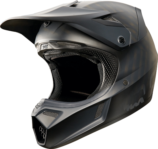Fox Racing 2015 V3 Matte Black Helmet Bto Sports