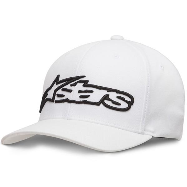 New Alpinestars Code Mens Black White Flexfit Cap Hat