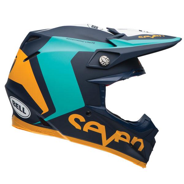 Bell Moto 9 Carbon Flex Seven Rogue Aqua Navy Helmet BTO SPORTS