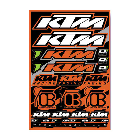 D 39 cor visuals ktm sticker sheet bto sports for D cor visuals