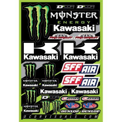 Dcor Visuals Monster Kawasaki Decal Sticker Sheet Monster Kawasaki Sticker Sheet 9 Available
