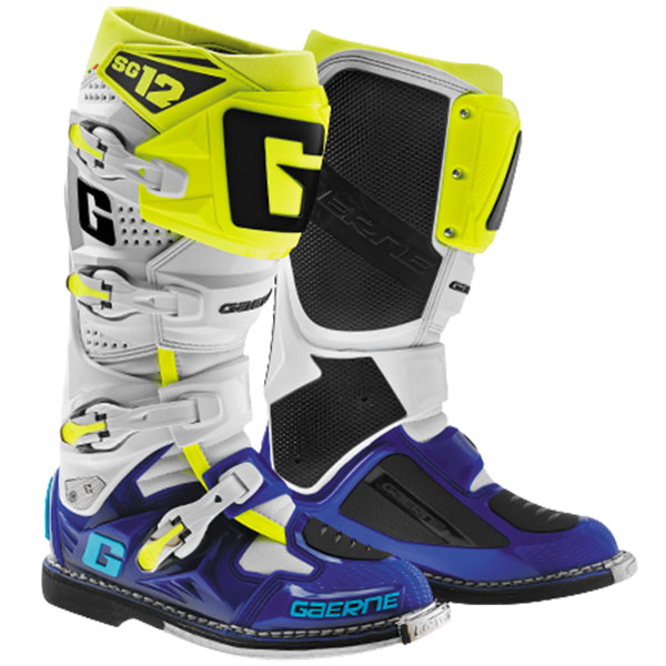 Gaerne Boots Sg12 >> Gaerne Sg 12 Boots Color Blueyellow Size 10