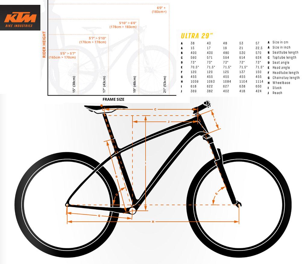Ktm Mountain Bike Frame Sizes