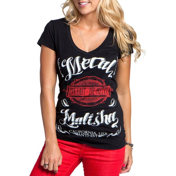 Metal Mulisha - Mellow Women's T-Shirts - Color:Black Size:XL