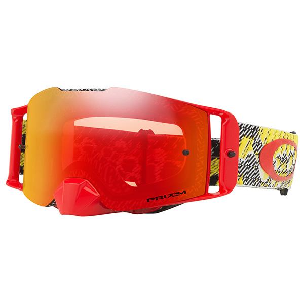 8f19e4a68da Oakley - Front Line MX Prizm Goggle -  Color dazzle-dyno-red-ylw-torch-iridium-lens