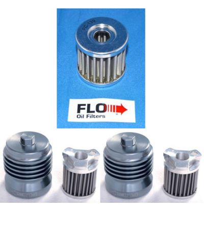 Pro Racing - Flo Stainless Steel Oil Filters (Suzuki): BTO