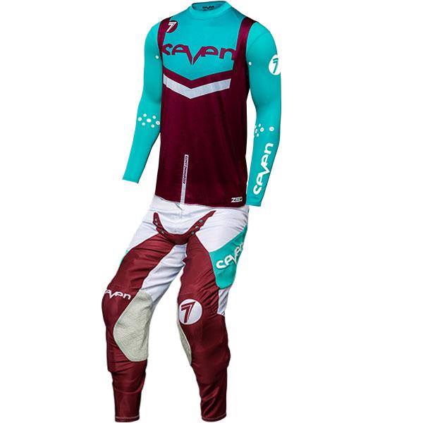 seven mx zero flite jersey pant gear combo maroon blue jpg
