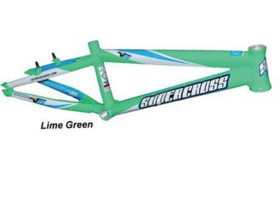Supercross - Envy V5 Race Frame - Lime Green (BMX): BTO SPORTS