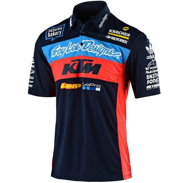 Troy Lee Designs TLD KTM Womens Short Sleeve T-Shirt Navy