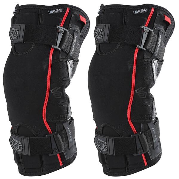 XL Troy Lee Designs 6400 Knee Brace Solid Black