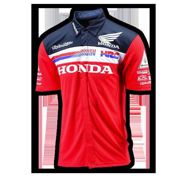 Troy Lee Designs Honda Team Pit Shirt Bto Sports