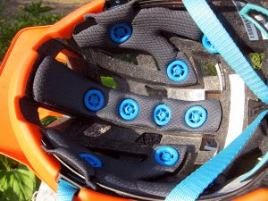 Inside view of the DBX 3.0 All Mountain Helmet.