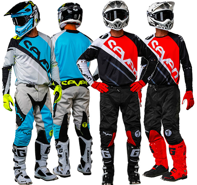 seven mx rival militant blue cement and red black gear combo line up