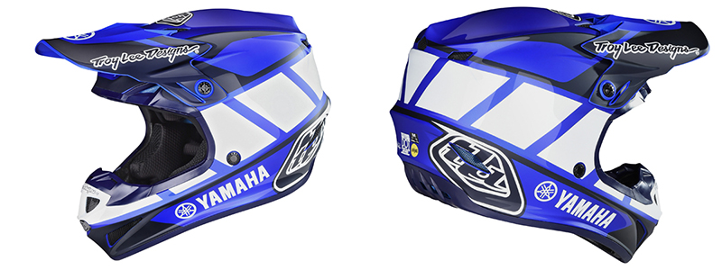 Troy Lee Designs SE4 Polyacrylite Yamaha Helmet