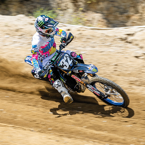 Cooper Webb  hooking up in the Pulse Fast Boyz gear set.