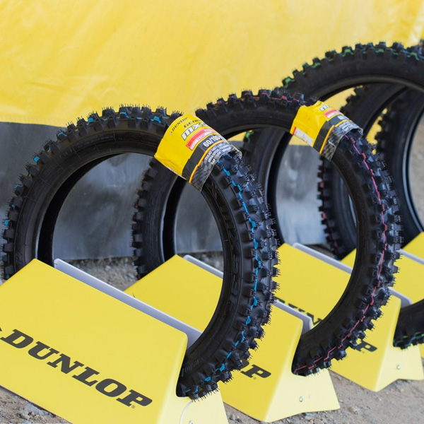 Dunlop displaying their latest and greatest tire on their media release day.